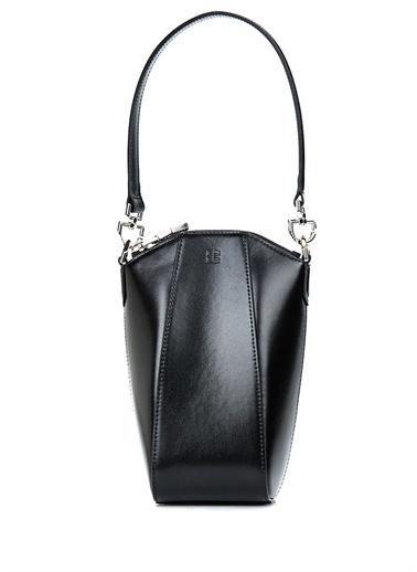 Givenchy Givenchy 101611424 Deri Zincirli Omuz Askılı Kulplu Fermuar Kapatmalı Kadın Çanta Siyah